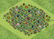 Clash of Clans расстановка базы кубки ТХ10 - TH10