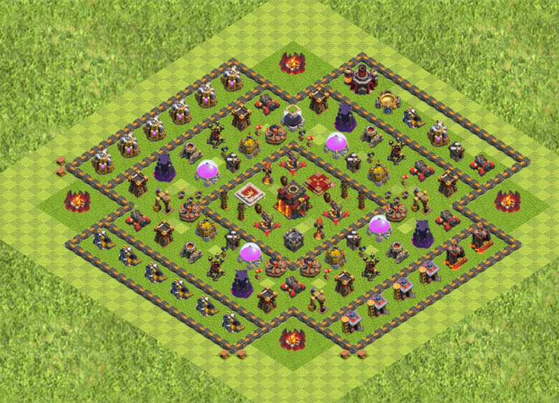 Clash of Clans расстановка базы кубки ТХ 10 / TH 10 / Ратуша 10