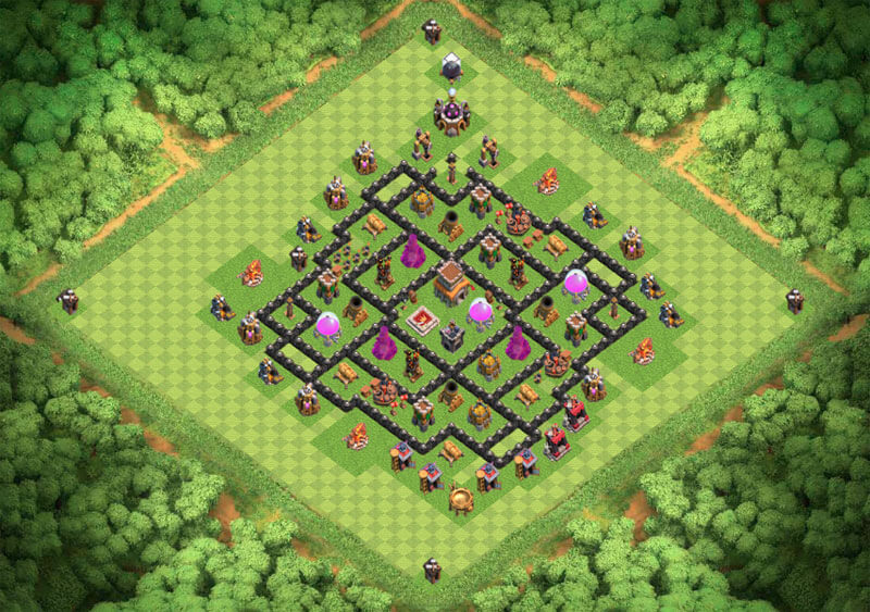 Clash of Clans расстановка базы кубки ТХ 8 / TH 8 / Ратуша 8