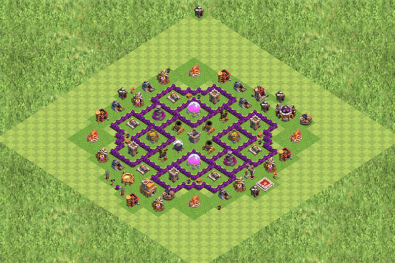 Clash of Clans расстановка базы кубки ТХ 7 / TH 7 / Ратуша 7