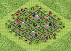 Clash of Clans расстановка базы кубки ТХ9 - TH9
