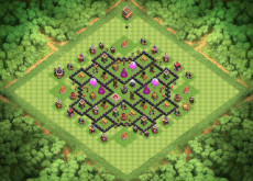 Clash of Clans расстановка базы кубки ТХ8 - TH8